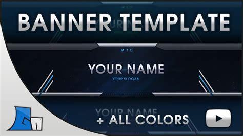 Free Template For by Free Banner Template All Colors Photoshop