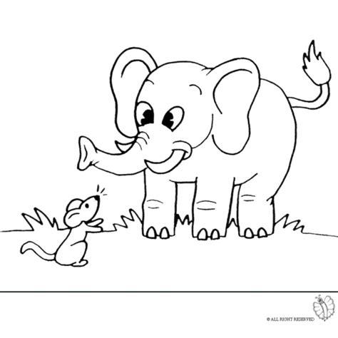 disegno  elefante  topolino da colorare  bambini