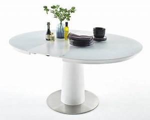 Küchentisch Rund Weiß : esstisch rund 120 160x120cm ausziehbar esszimmertisch ~ A.2002-acura-tl-radio.info Haus und Dekorationen