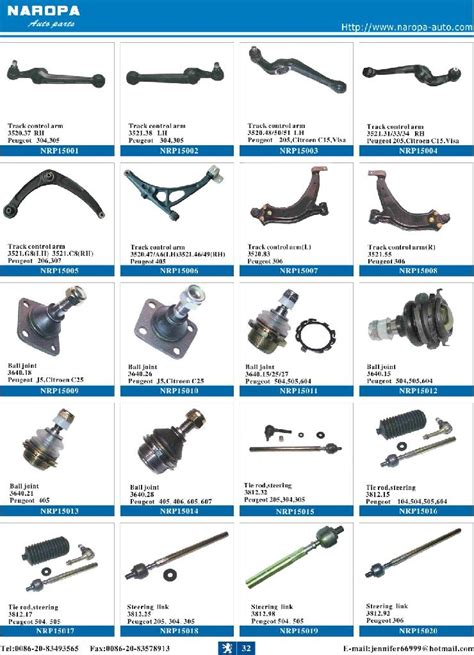 Peugeot Parts by Peugeot Parts 406 307 504 406 Naropa China
