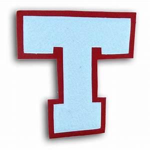 single felt plain block chenille varsity letter award With single alphabet letters