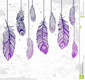Beautiful Illustration Of Feathers Stock Photography ...