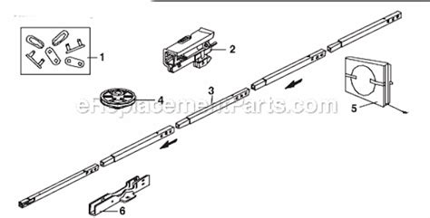chamberlain garage door opener parts chamberlain 248735 parts list and diagram