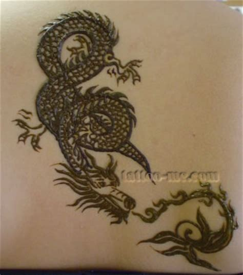 dragons  snakes henna tattoo