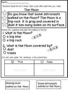 First Grade Reading Comprehension And Fluency Passages ( Fiction) This Product Contains 12