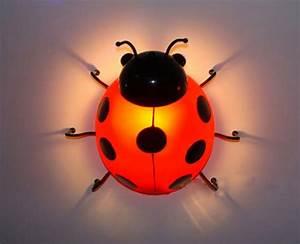 2019, Children, U0026, 39, S, Bedroom, Wall, Led, Bedside, Lamps, Beetle, Children, Wall, Lighting, Ladybug, Bedside