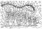 Kleurplaat Choir Coloring Christmas Kleurplaten Printable Edupics sketch template