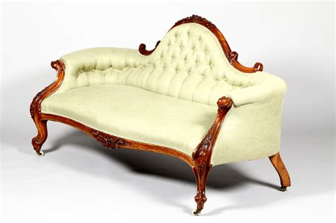 Regent Antiques   Sofas and stools   Antique Victorian Walnut Sofa Chaise Settee c.1870