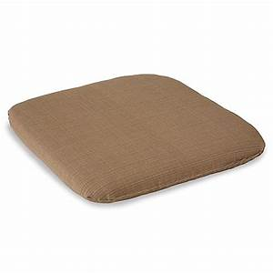 Outdoor chair cushion in camel bed bath beyond for Bed bath beyond gel seat cushion