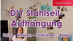 Maschenanzahl Mütze Berechnen : deko tipp diy stahlseil aufh ngung f r fotos bilder ~ Themetempest.com Abrechnung
