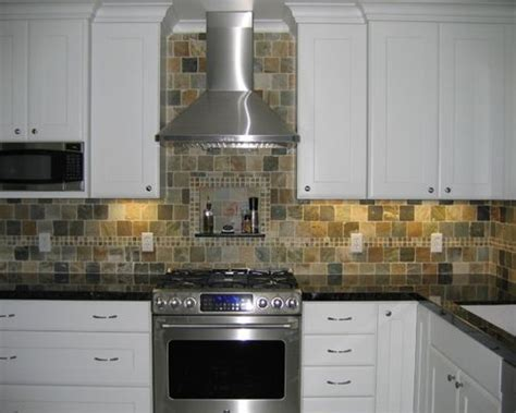 slate tile kitchen backsplash slate tile backsplash houzz 5323