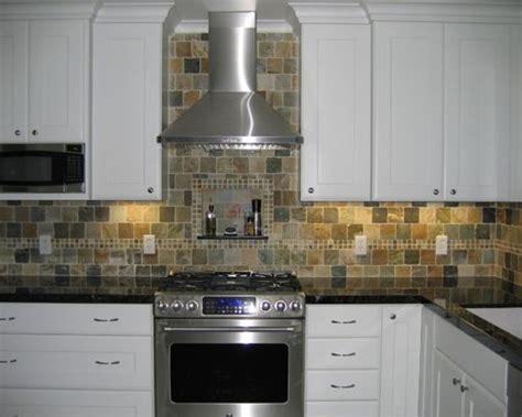 Slate Tile Backsplash  Houzz. Painting Your Kitchen Cabinets. Raised Kitchen Cabinets. Kitchen Cabinet Hinge Template. White Antiqued Kitchen Cabinets. Blue Kitchen Cabinets. Costco Kitchen Cabinets. Kitchen Cabinet Door Stop. Kitchen Pantries Cabinets