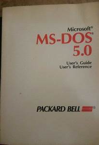 Ms Dos Users Guide Version 5 0 Manual Vintage Reference