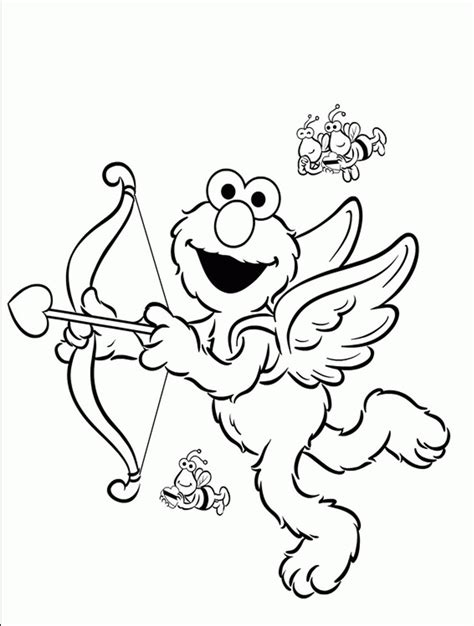 print  elmo coloring pages  childrens home activity