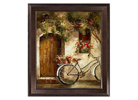 raymour and flanigan wall bicycle flowers framed canvas wall raymour flanigan 7630