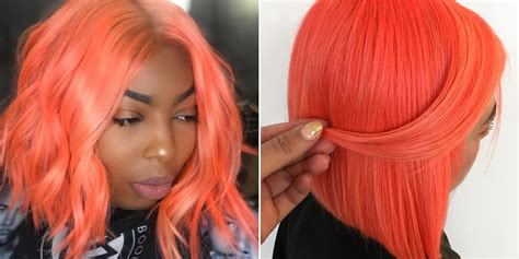 Neon Peach Hair Is Instagram's Biggest Summer Hair-color