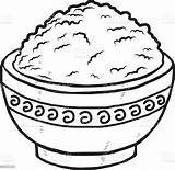 Rice Bowl Clipart Vector Drawing Clip Illustration Cliparts Carbohydrate Type sketch template