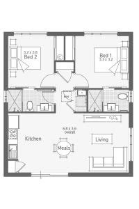 unit bed bath sq ft square house plans house plans small