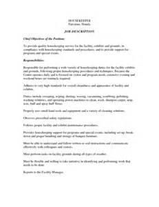 basic resume objective for a part time job effective housekeeping resume for job description vntask com