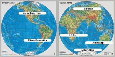 Sauszeme un okeāns. Kontinenti — teorija. Dabaszinības, 3. klase.