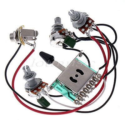 Stratocaster 5 Way Wiring Harnes by Guitar Wiring Harness Kit 5 Way Switch 500k Pots For