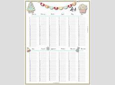 Free Birthday List Template Customize then Print