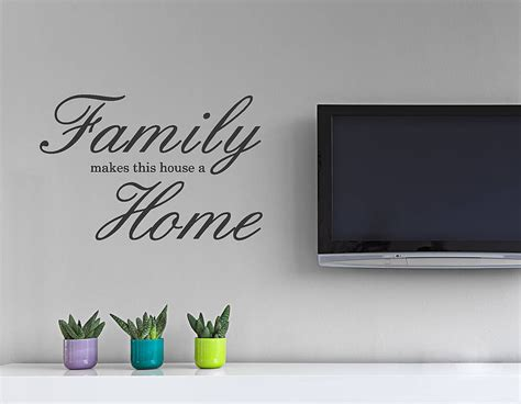 'family Home' Wall Sticker  Contemporary Wall Stickers