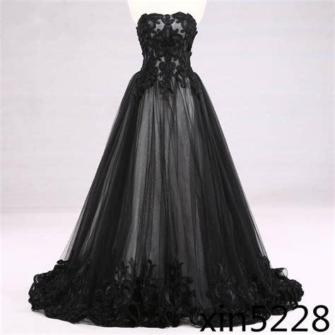 victorian gothic wedding dress black white bridal gown