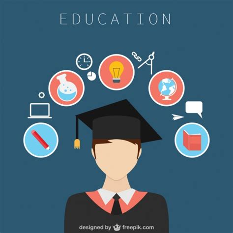 graphic designer education education design with icons vector free