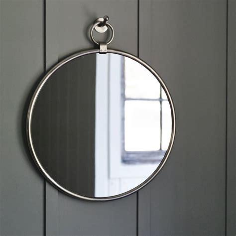 Hanging Bathroom Mirror by Indar Hanging Mirror And Hook Matt Nickel By Rowen Wren