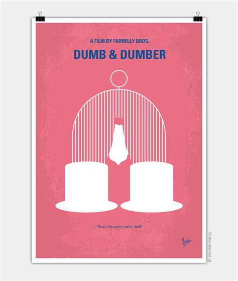 No241 My Dumb & Dumber Minimal Movie Poster Chungkong