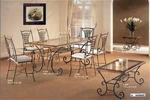 table de salle manger en fer forg With salle a manger fer forge maroc