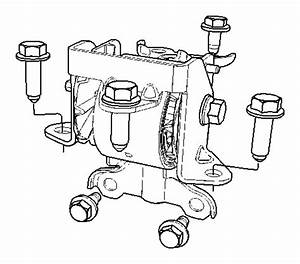 Dodge Caliber Insulator  Engine Mount  With  6