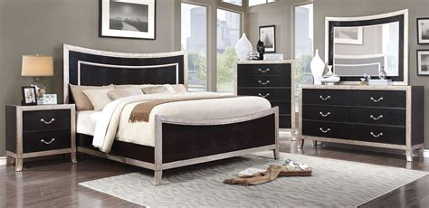 Silver Bedroom Furniture by Liza Silver Panel Bedroom Set Cm7264q Furniture Of America
