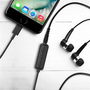 Iphone Lightning To 3 5mm Headphone Jack Hifi Adapter  U2013 Black