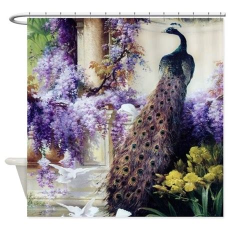 peacock shower curtain peacock and peacock feather shower curtain