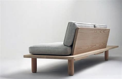 platform sofa gray wash  wood bohemian covered