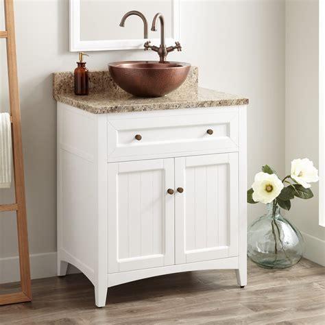 """30"""" Halifax Vessel Sink Vanity White Bathroom"""