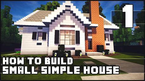farmhouse building plans minecraft house how to build simple small house part