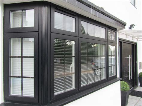 upvc black windows google search black windows black window frames white exterior houses