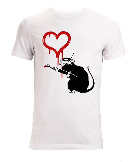 fashion cool casual  shirts banksy street art rat
