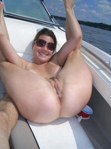 Hot Wife Donna Bares All On A Boat At