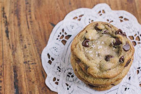 Salted Chocolate Chip Cookies   Vintage Mixer