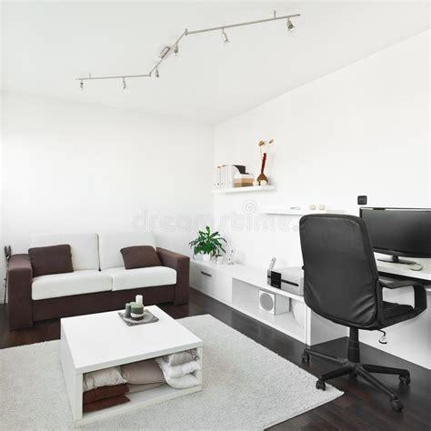 computer desk in living room modern living room with computer desk stock image on