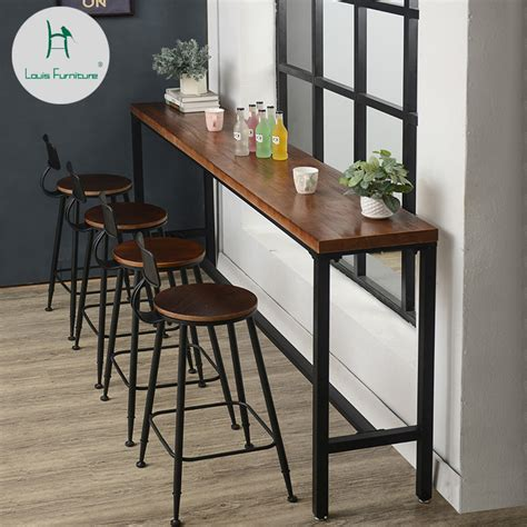Louis Fashion Bar Tables American Solid Wood Wall Table