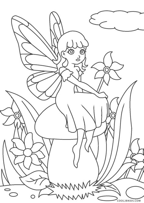 printable fairy coloring pages  kids