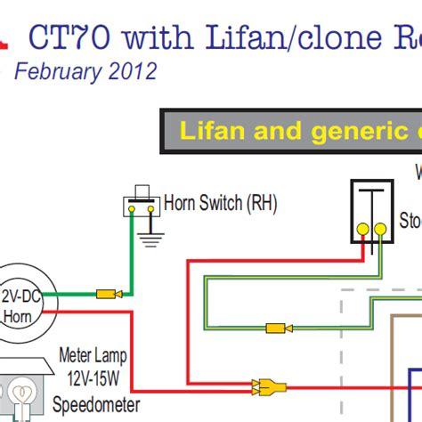 honda ct70 lifan clone engine 12 volt wiring diagram