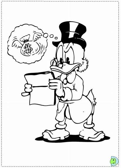 Scrooge Coloring Uncle Pages