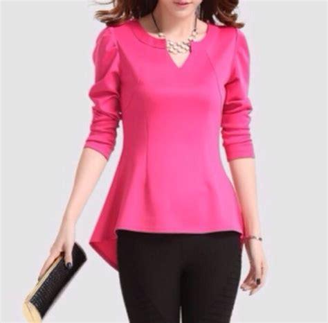 pink blouses blouse pink top sleeves pink peplum top