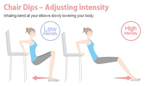 flabby arm triceps exercise chair dips sculpt arms